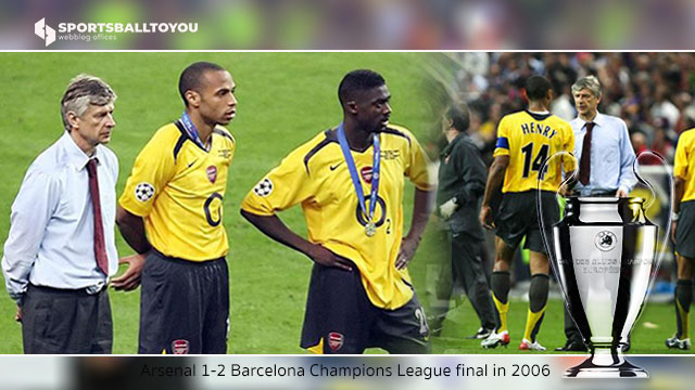 Arsenal Champions League final in 2006