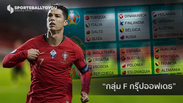 โปรตุเกส ฝรั่งเศส และ เยอรมัน กรุ๊ปออฟเดธ ศึกยูโร 2021 ครบ 24 ทีม