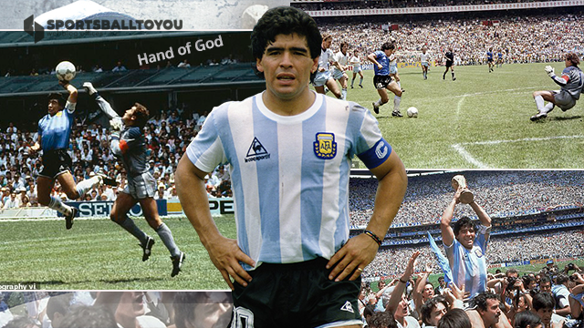 Diego Maradona infamously handled the ball to score past for Argentina during the 1986 World Cup quarter-final